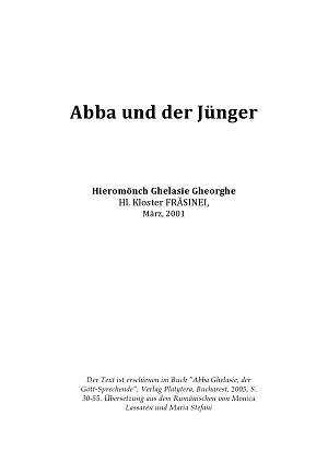 Abba und der Jünger